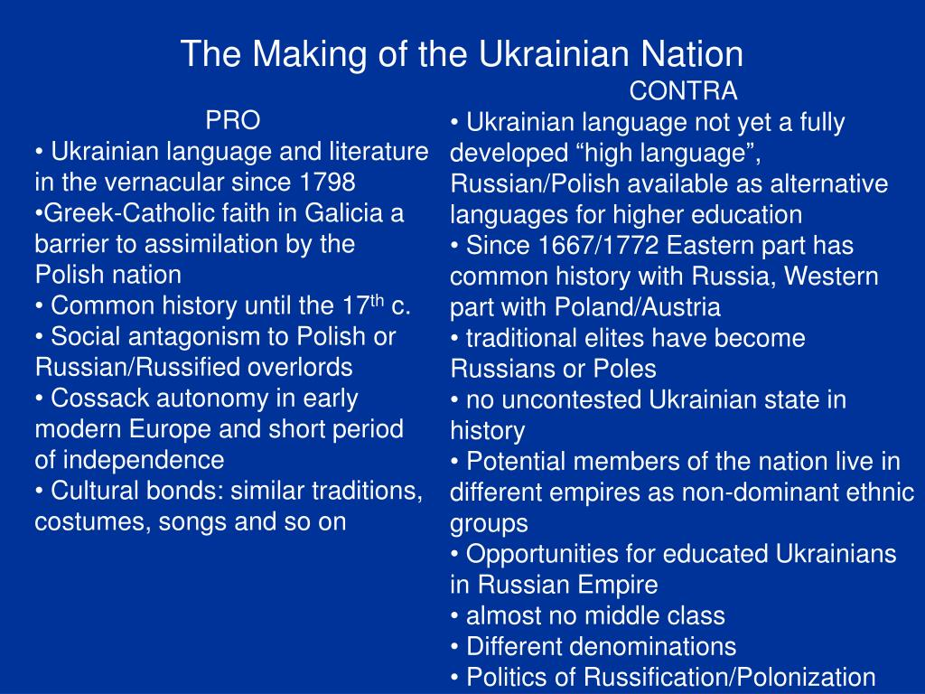 The Making of the Ukrainian Nation