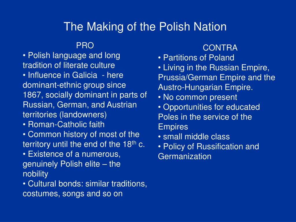 The Making of the Polish Nation