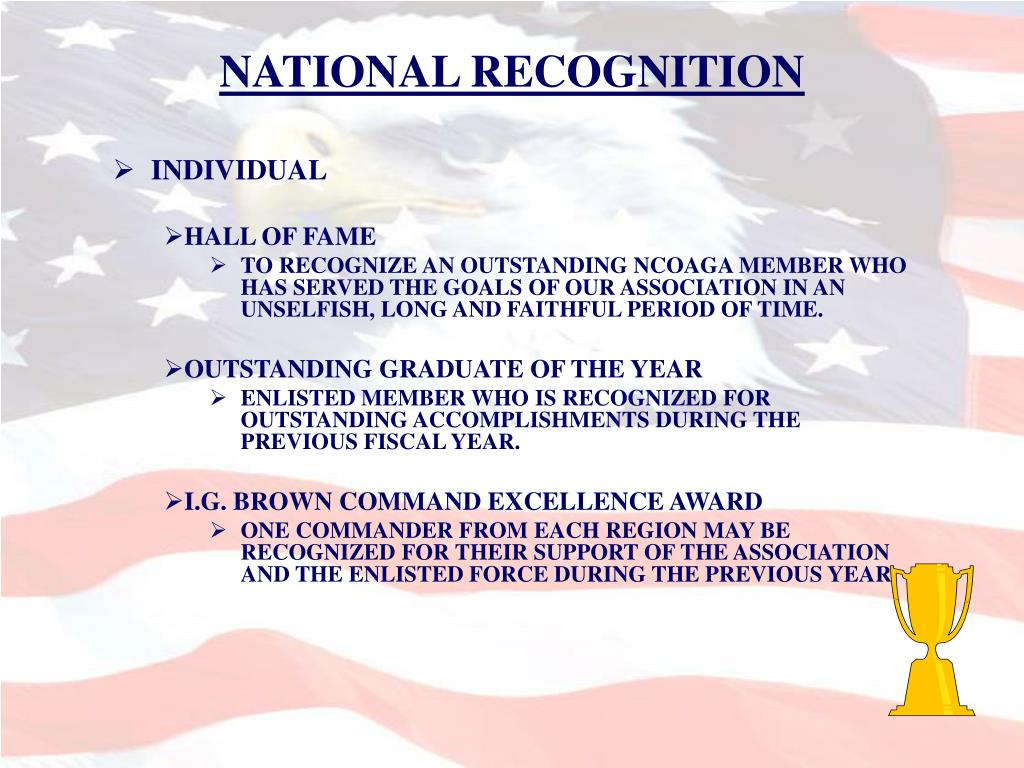 NATIONAL RECOGNITION