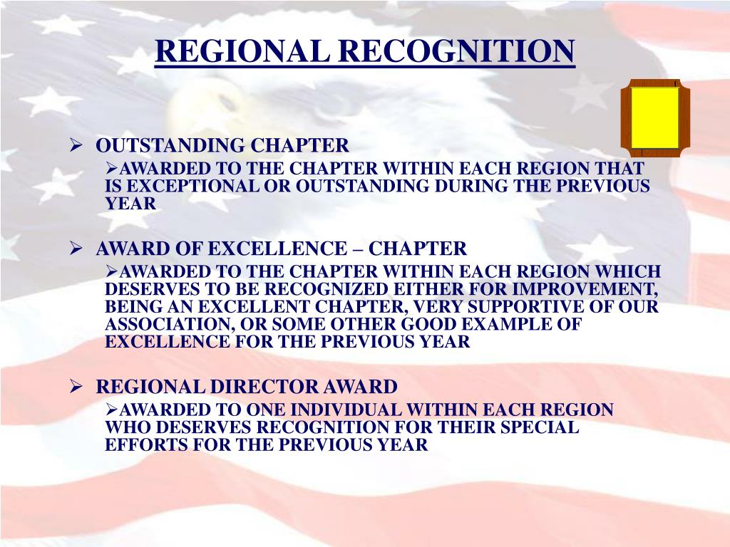 REGIONAL RECOGNITION