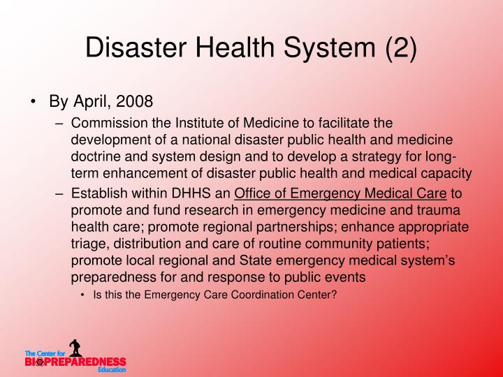 Disaster Health System (2)