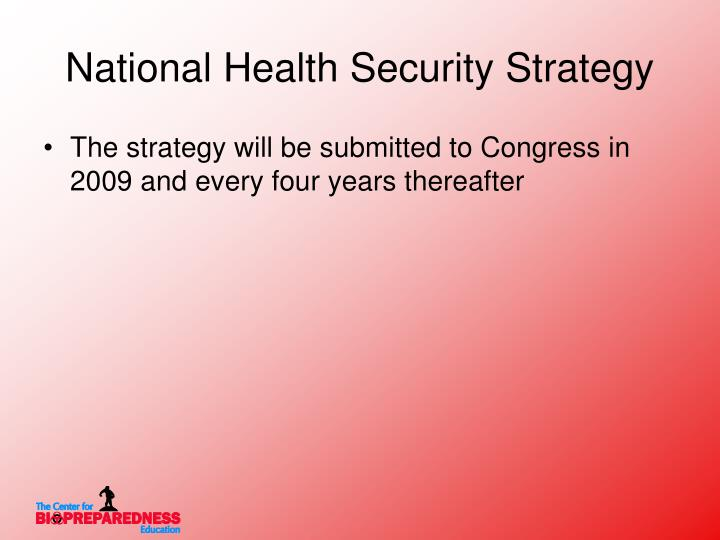 National Health Security Strategy