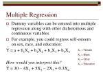 multiple regression44