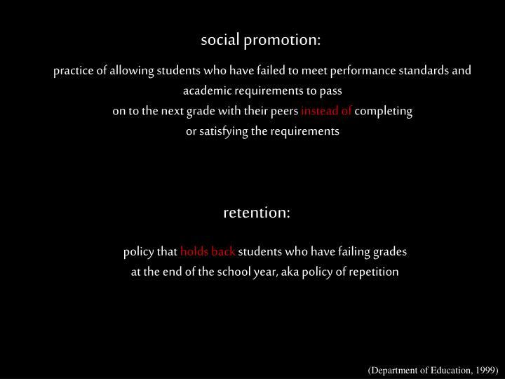 social promotion: