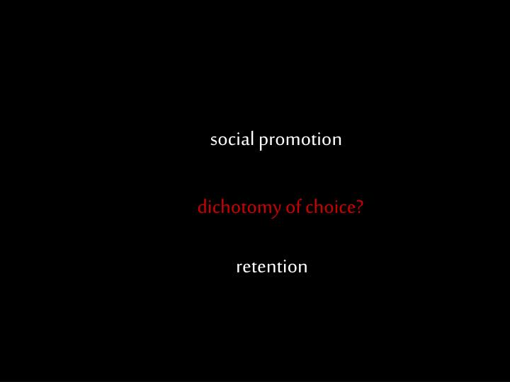 social promotion