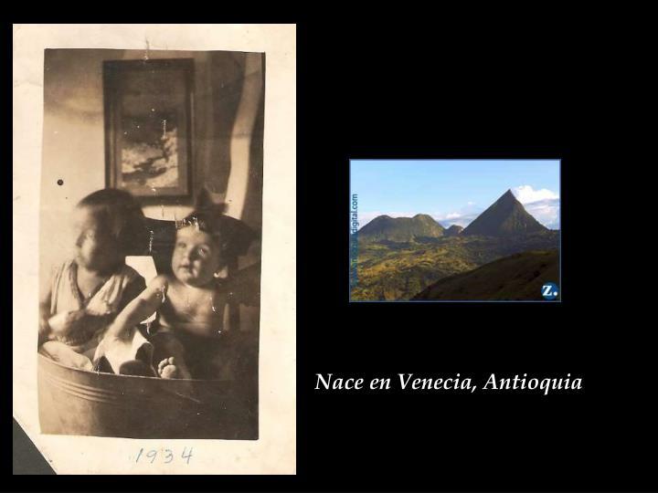 Nace en Venecia, Antioquia