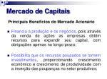 mercado de capitais17