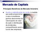 mercado de capitais19