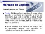 mercado de capitais23
