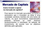 mercado de capitais26