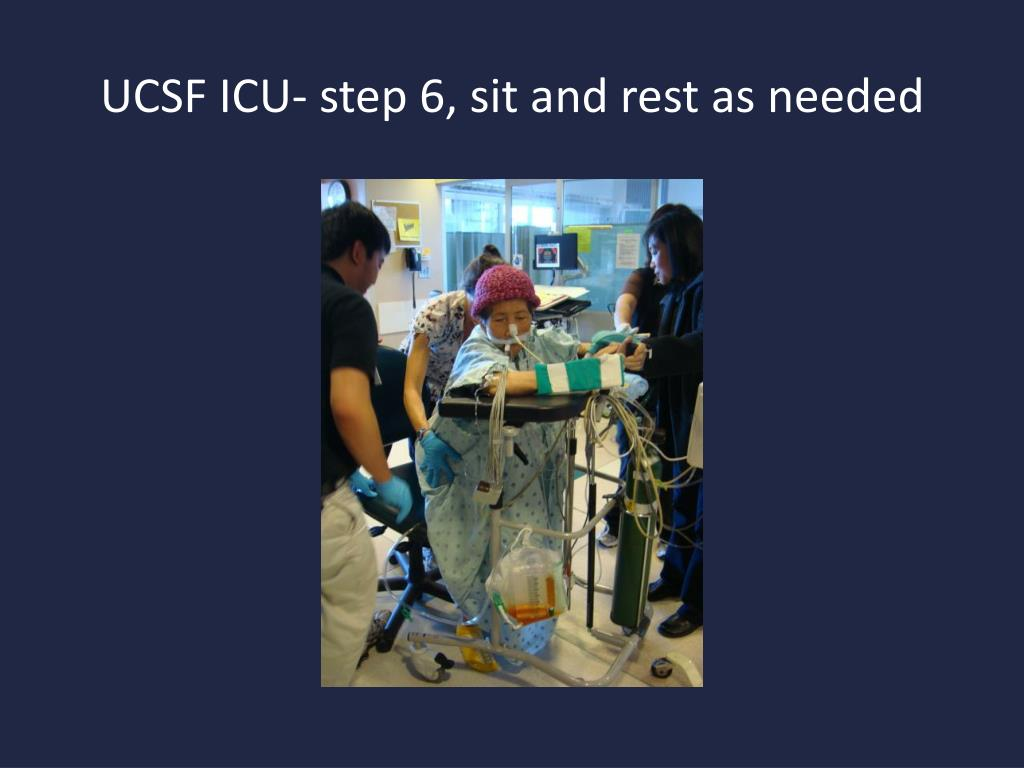 PPT - ICU Early Mobilization at UCSF Physical Therapy for