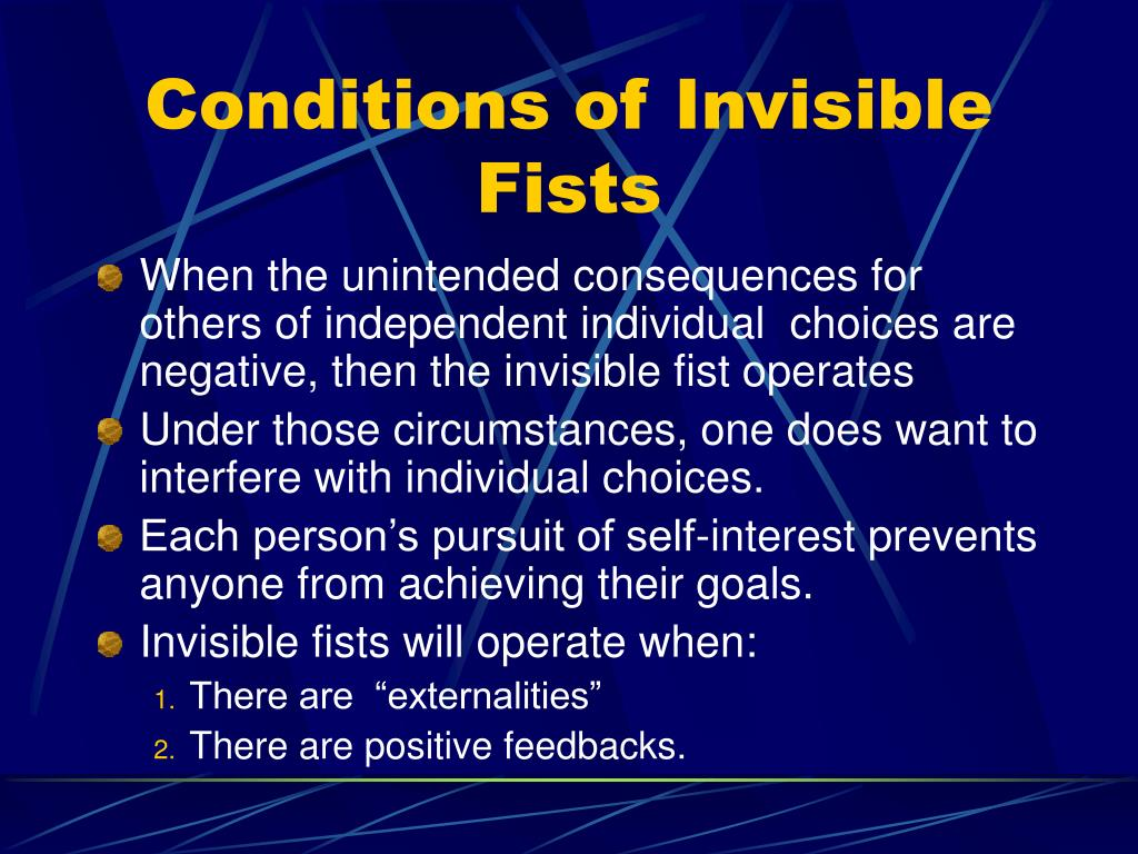Conditions of Invisible Fists