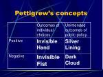 pettigrew s concepts