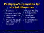pettigrew s remedies for social dilemmas