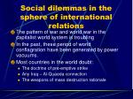 social dilemmas in the sphere of international relations