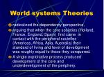 world systems theories