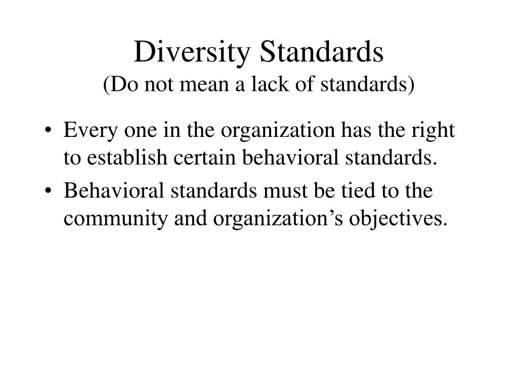 Diversity Standards