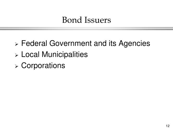 Bond Issuers