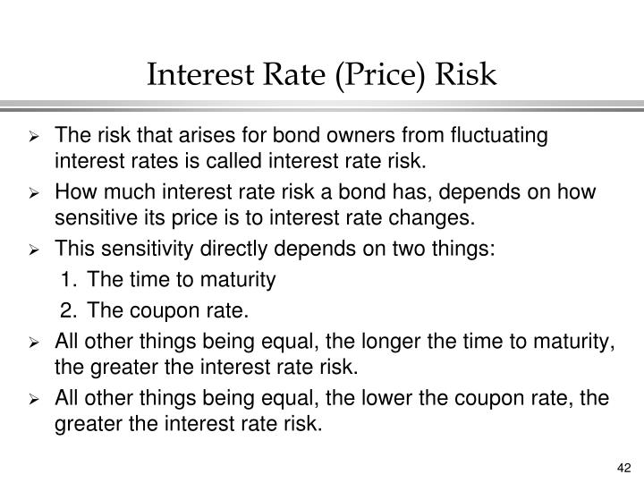 Interest Rate (Price) Risk