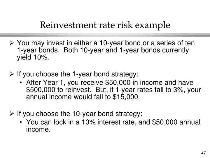 Reinvestment rate risk example