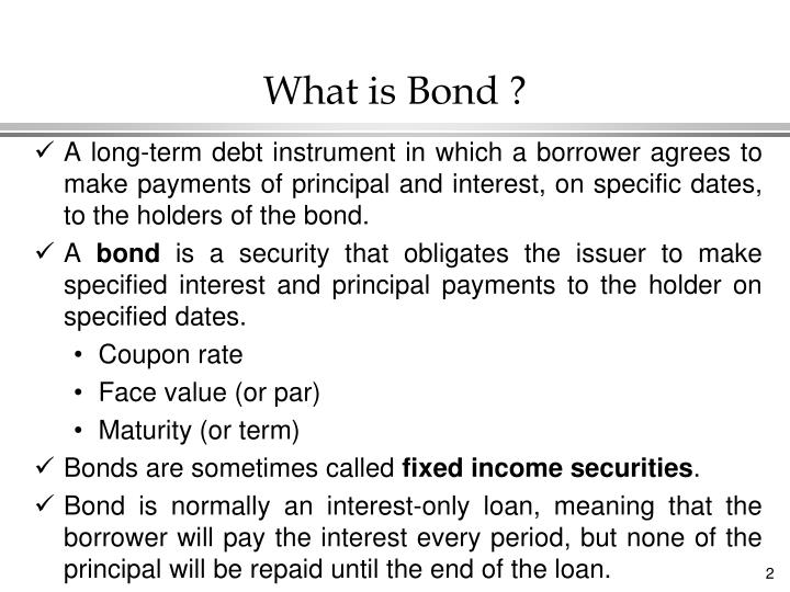 What is bond