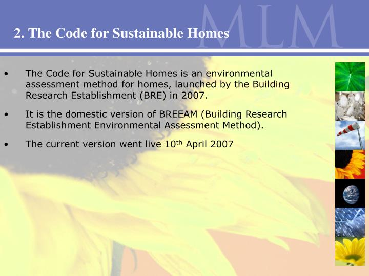 2. The Code for Sustainable Homes