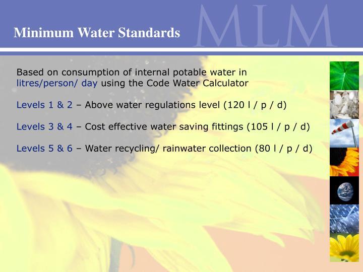 Minimum Water Standards