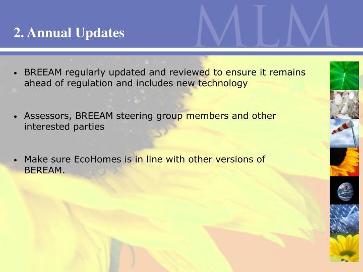 2. Annual Updates