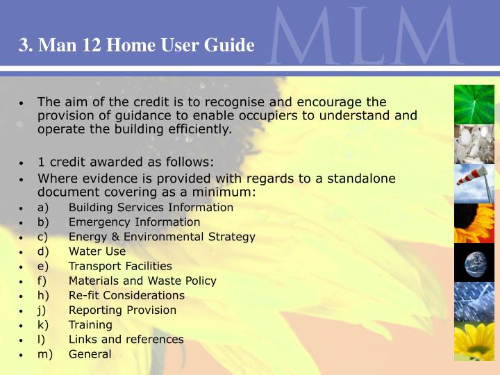 3. Man 12 Home User Guide