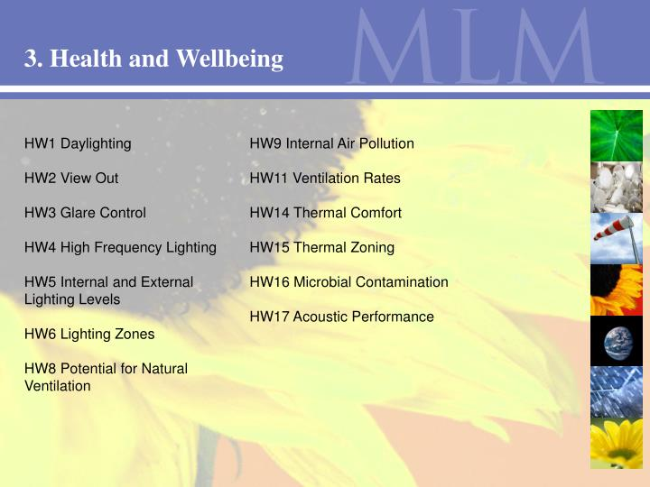 3. Health and Wellbeing
