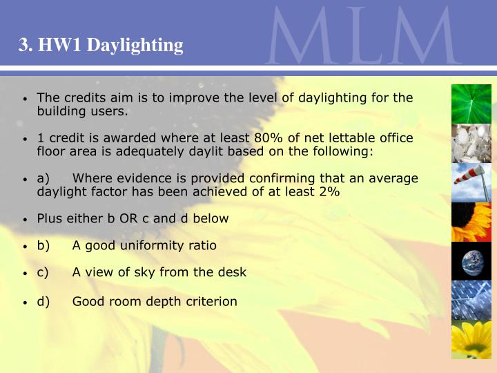 3. HW1 Daylighting