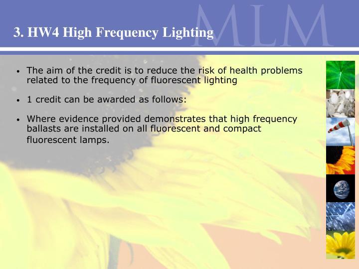 3. HW4 High Frequency Lighting