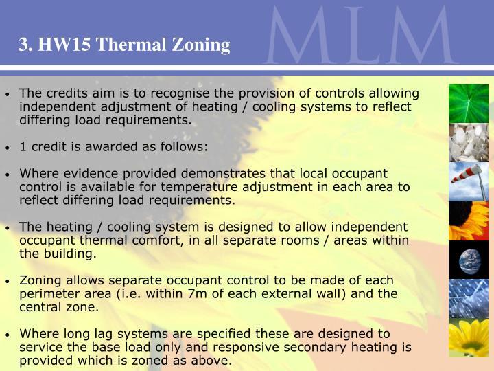 3. HW15 Thermal Zoning
