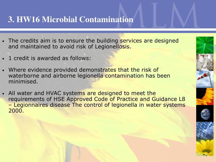 3. HW16 Microbial Contamination