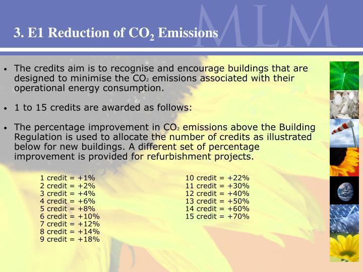 3. E1 Reduction of CO