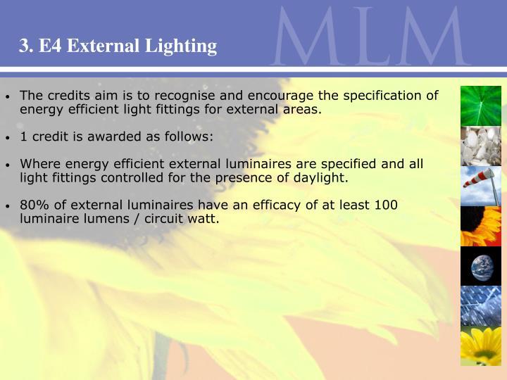 3. E4 External Lighting