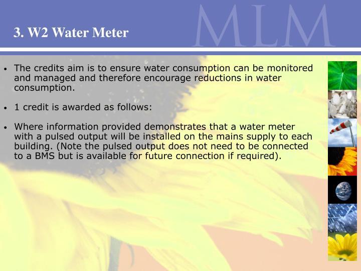 3. W2 Water Meter