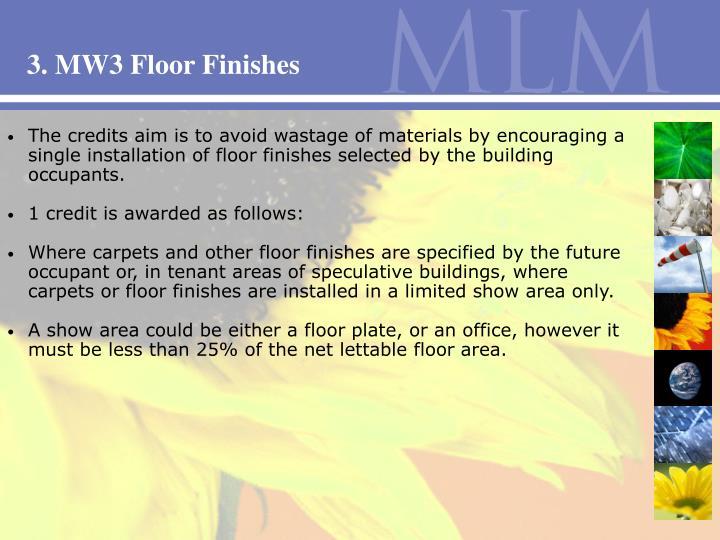 3. MW3 Floor Finishes