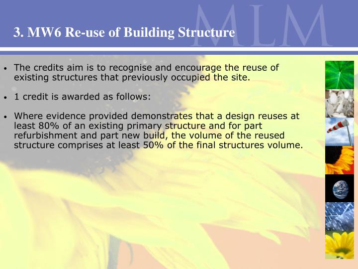 3. MW6 Re-use of Building Structure