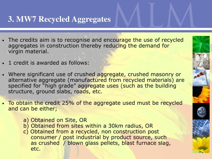 3. MW7 Recycled Aggregates