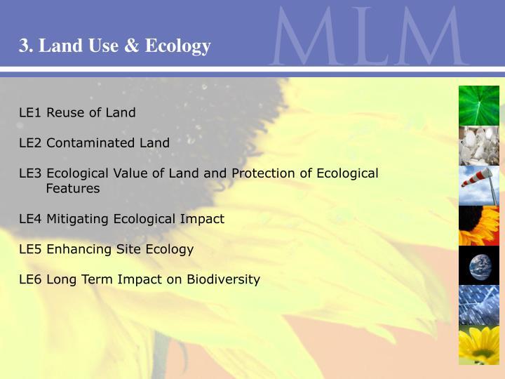 3. Land Use & Ecology