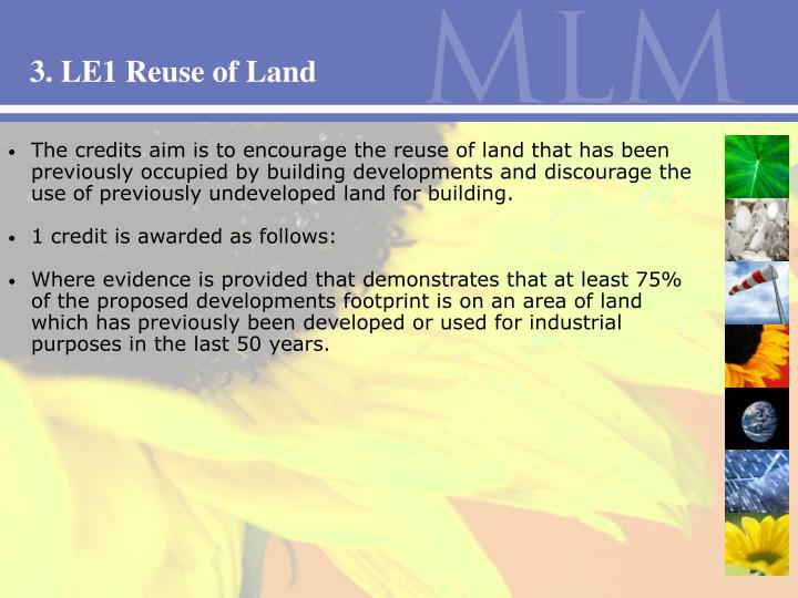 3. LE1 Reuse of Land