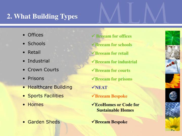 2. What Building Types