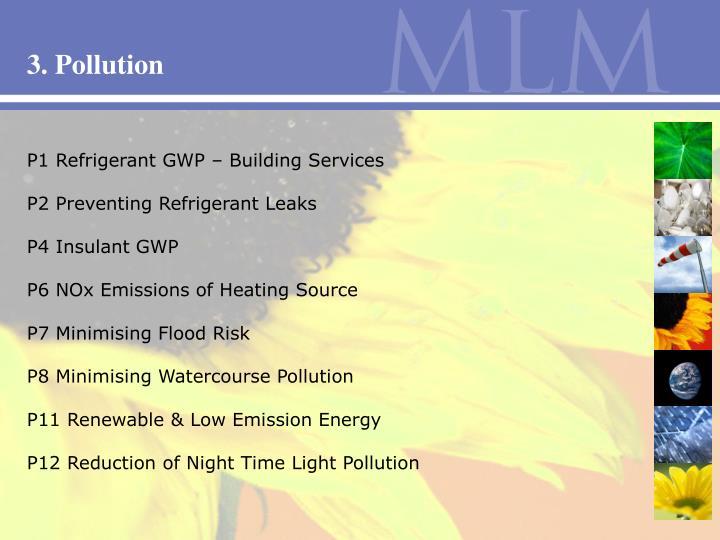 3. Pollution