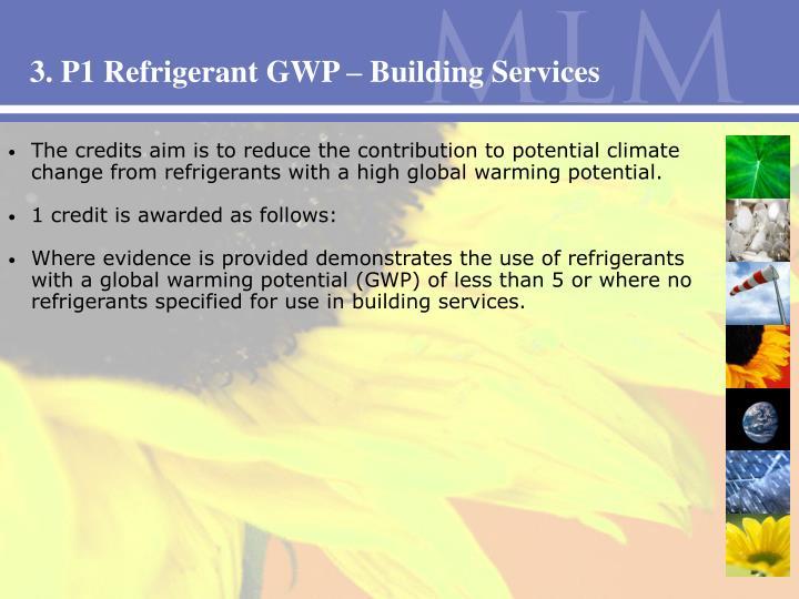 3. P1 Refrigerant GWP – Building Services