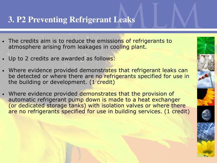 3. P2 Preventing Refrigerant Leaks