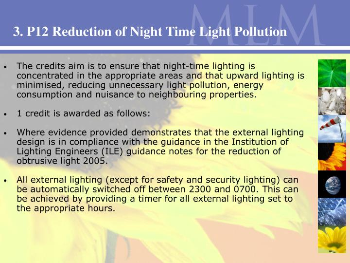 3. P12 Reduction of Night Time Light Pollution