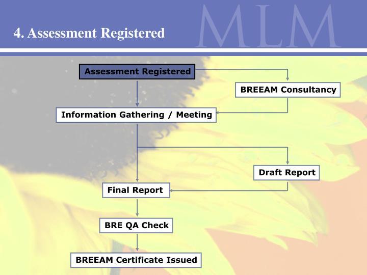 4. Assessment Registered