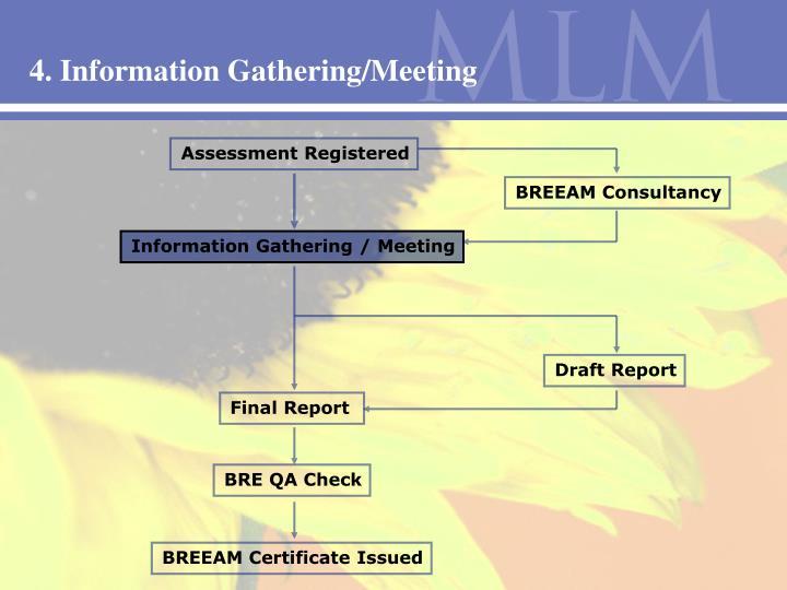 4. Information Gathering/Meeting