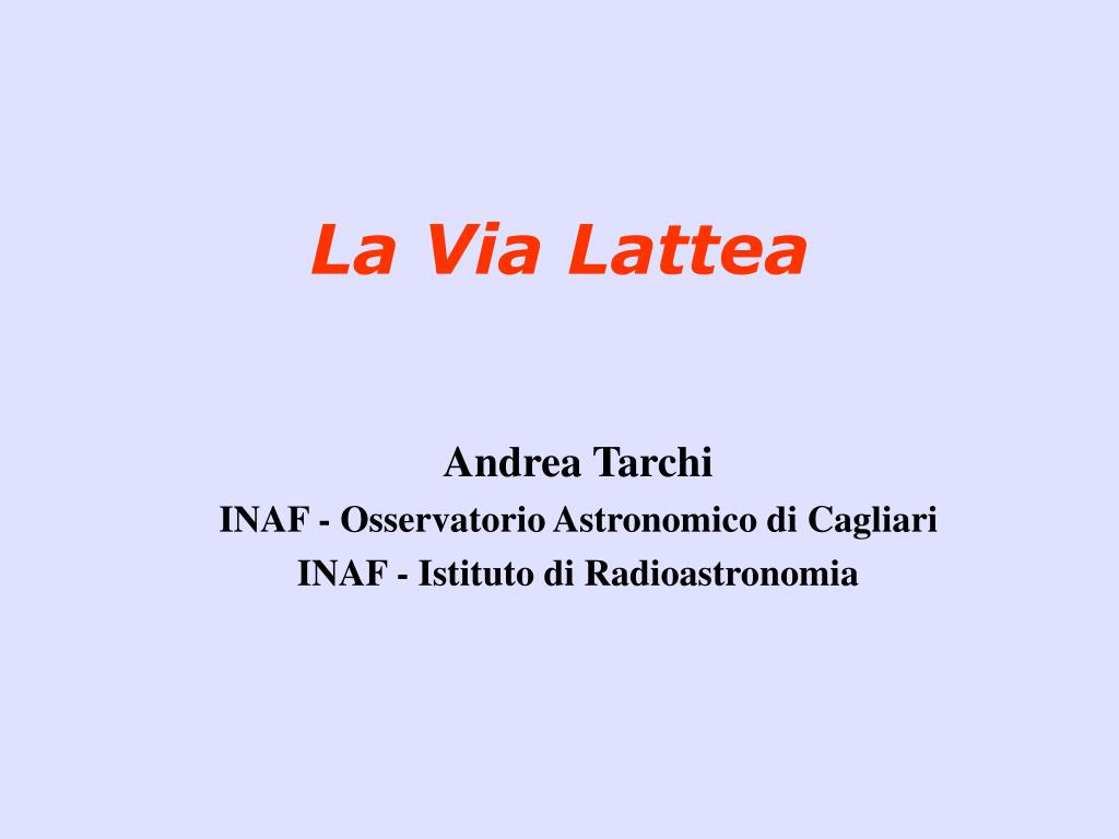 la via lattea l.